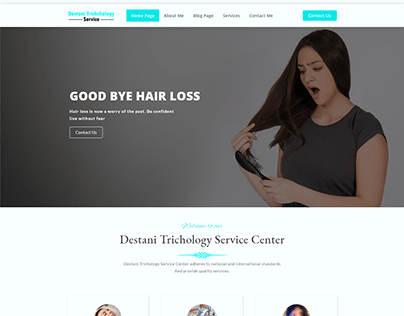 A Product Page for Trichology Services.