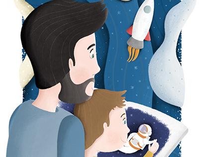 Ilustracja - Magiczne opowieści taty