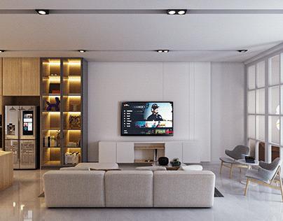 Desain Interior Rumah Gaya Modern Farmhouse - Jakarta