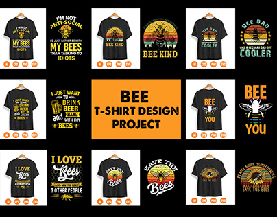 Bee T-shirt Design Project