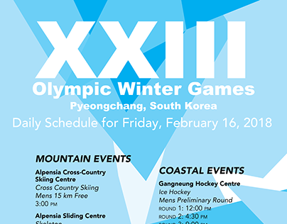 Information Design: Olympics Poster Design