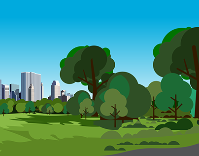 Flat graphic illustrations for animation projects