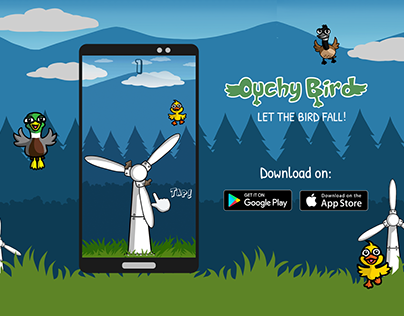 Ouchy Birds Game Landing Page