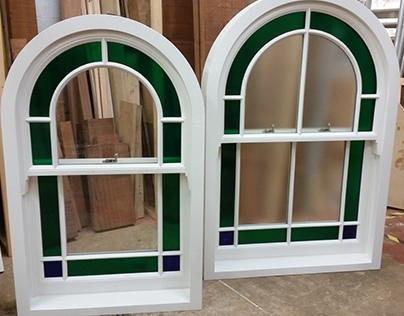 Arched top sash windows