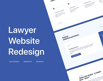 Lawyer Website | UI/UX | Redesign