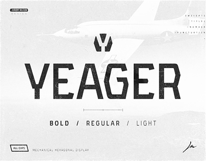 Yeager | FREE Display Typeface - 3 Weights