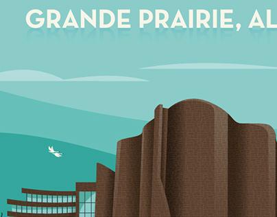 Grande Prairie Mid Century Poster #2
