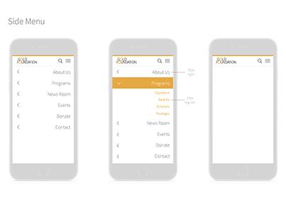 Gold Foundation [mobile UI/UX + branding]