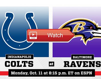 Baltimore Ravens vs. Indianapolis Colts: Live Stream