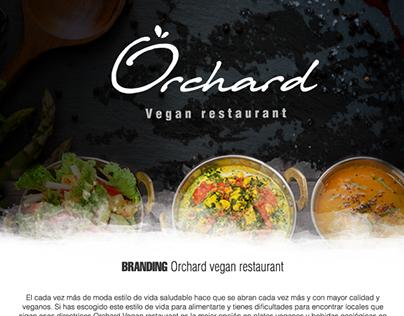 Branding Orchard vegan restaurant