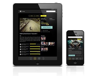 iMovies Mobile App UI Designs