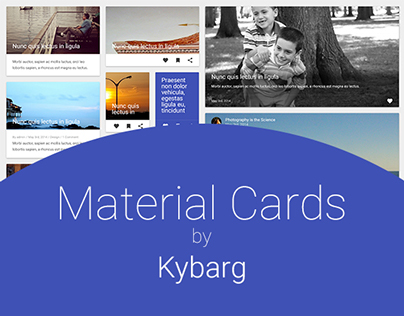 Material Design Cards - Freebie PSD