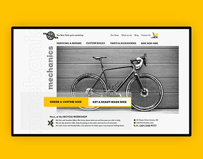 "Web design for the cycle workshop ""Mechanics"""