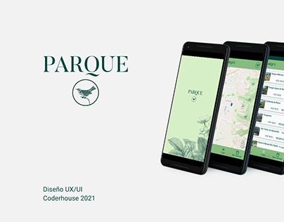 App Parque / Diseño UX/UI Coderhouse 2021