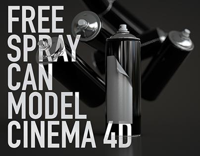 CINEMA 4D | FREE SPRAY CAN MODEL