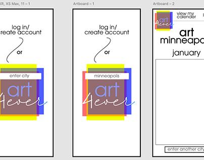 ART4ever Mobile App/UX design