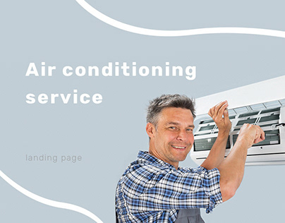 Landing page for an air conditioning company