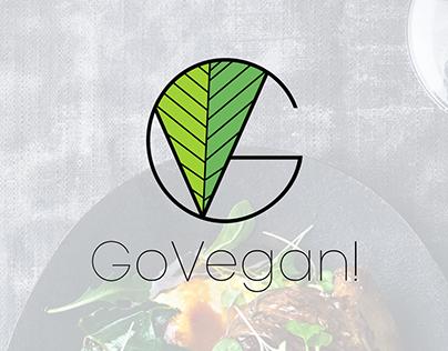 PP: Go Vegan!   Logo No.2.