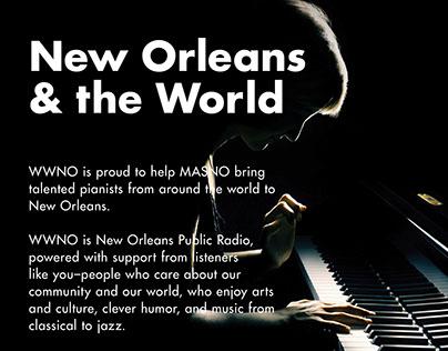 2016. WWNO - New Orleans Public Radio Ads