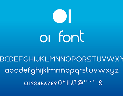 OI font geometric typeface