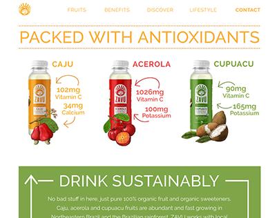 Zavu Superfruit Juice Blends Illustrations