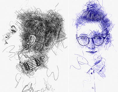 Ink Pen Sketch Photoshop Action