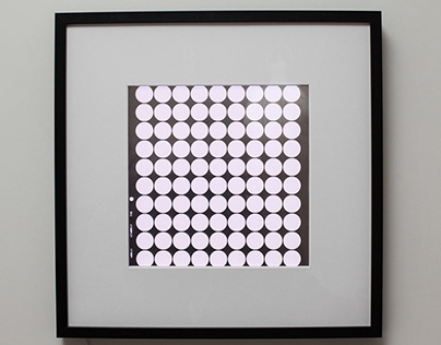 Geometric abstract light art / wall lamp