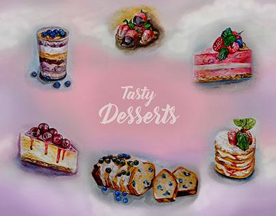 "illustration for public ""Tasty Desserts"""