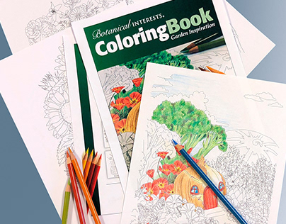 Botanical Interests Winter 2018 Coloring Book