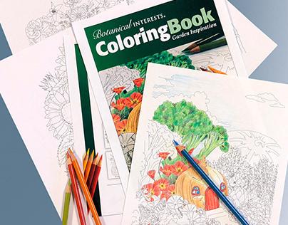 Botanical Interests Winter 2018 Coloring Book