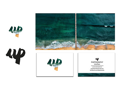 UP PHOTOGRAPHY logo and business card