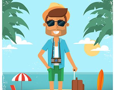 Character design. Summer holidays