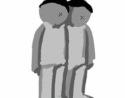 两个小人【我们】
