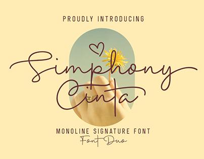 Free Font | Simphony Cinta