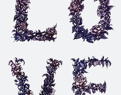 'LOVE' -  illustrated typography
