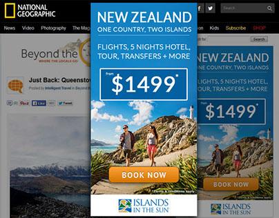New Zealand & Fiji Airways Campaign -Islands in the Sun