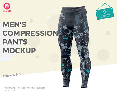 Men's Compression Pants Mockup