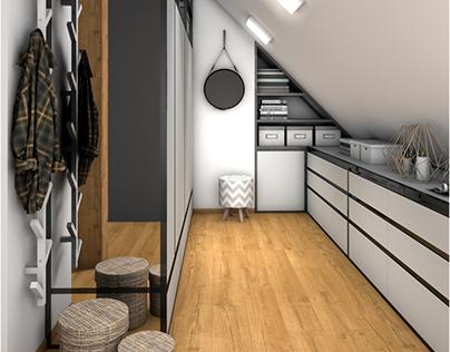 Project of wardrobe in MetalWork 8m2 - Gdynia