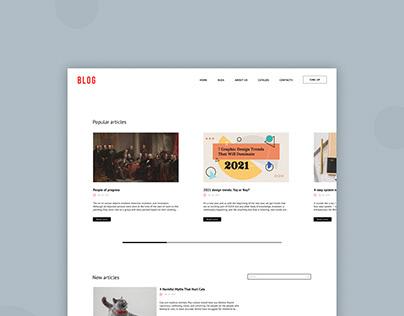 Blog and news portal