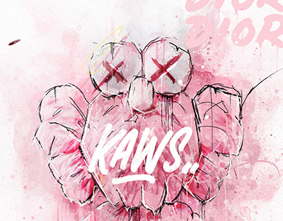 KAWS PAINT POSTERS