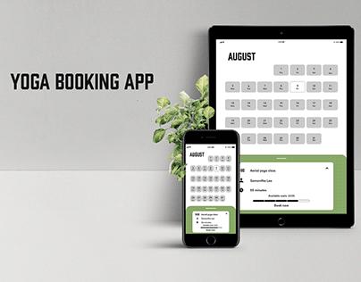 Yoga Booking App UI design: XD Daily Creative Challenge