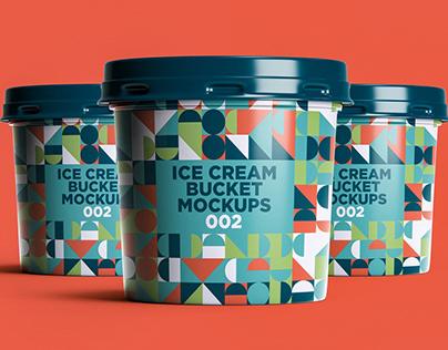 Ice Cream Bucket Mockups