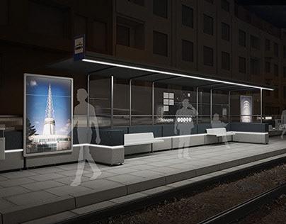 Safe tram stop - Bezpieczny przystanek tramwajowy