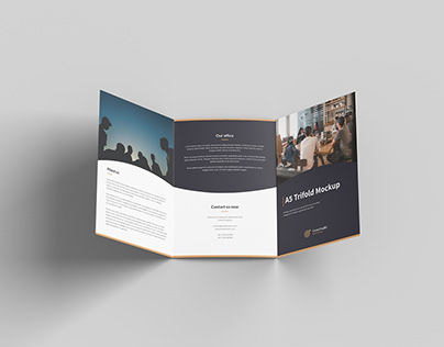 Free Exclusive A5 Trifold Mockup