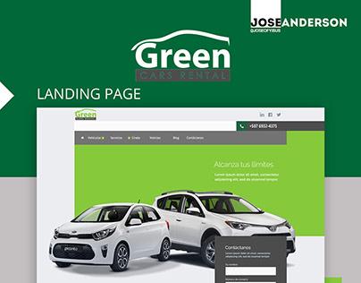 Landing Page Web Design | Green Cars Rental