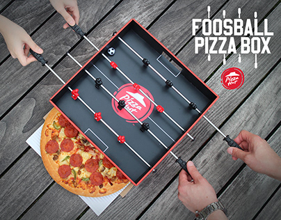 PIZZA HUT FOOSBALL PIZZA BOX