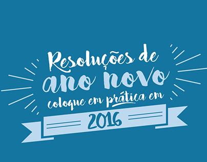 Campanha Resoluções de Ano Novo - Social Media