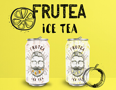 "Label for ice tea drink ""FRUTEA"""