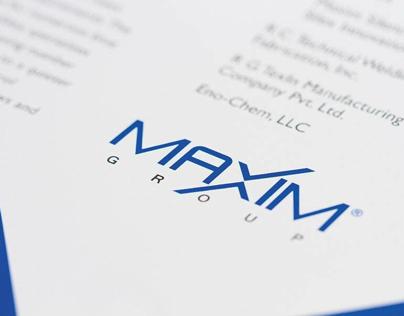 Maxim Group Logo and Brochure