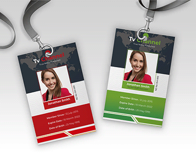 Press Pass ID Card